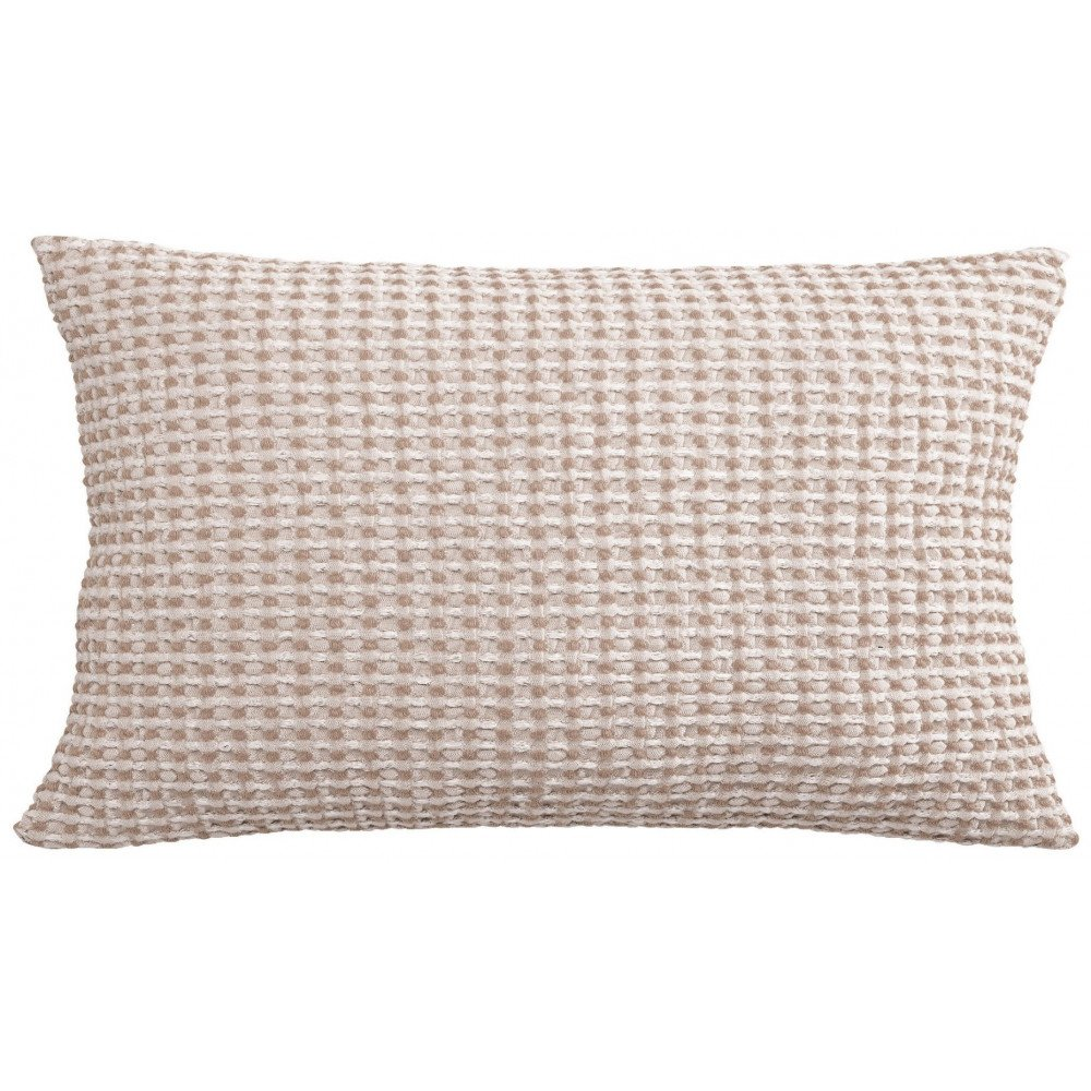 Housse de Coussin Stonewashed Naga Vichy Lin 65 | www.cosy-home-design.fr