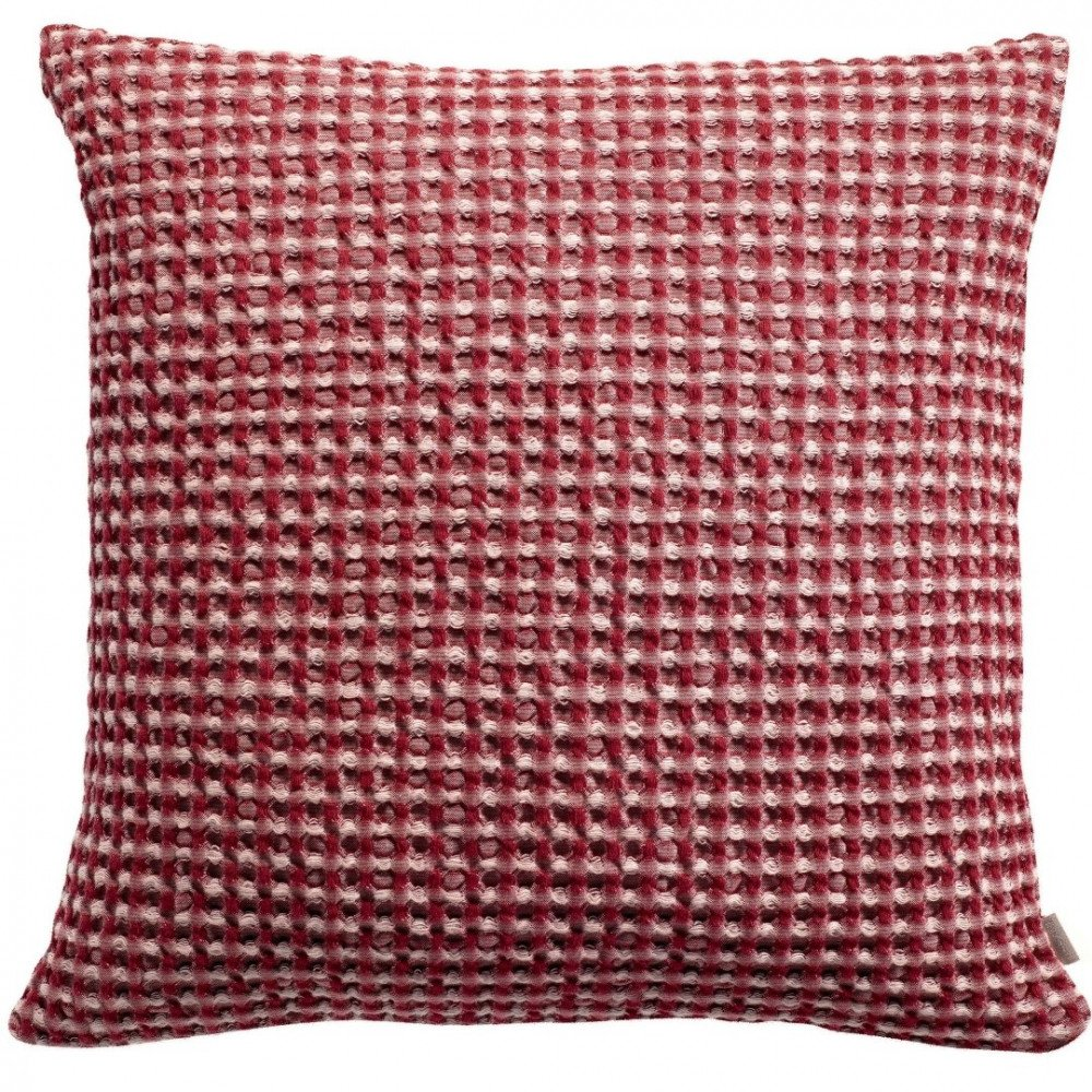 Housse de Coussin Stonewashed Naga Vichy Griotte 45 | www.cosy-home-design.fr