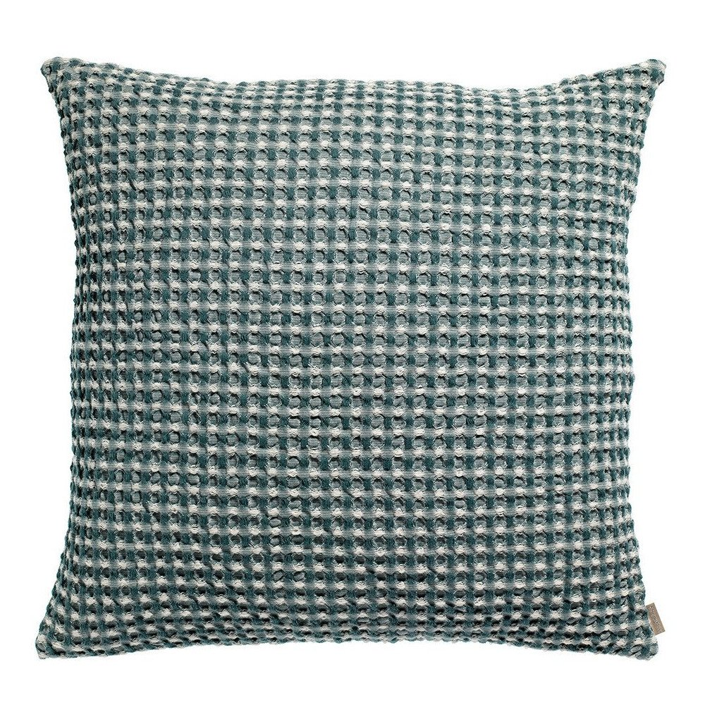Housse de Coussin Stonewashed Naga Vichy Prusse 45 | www.cosy-home-design.fr