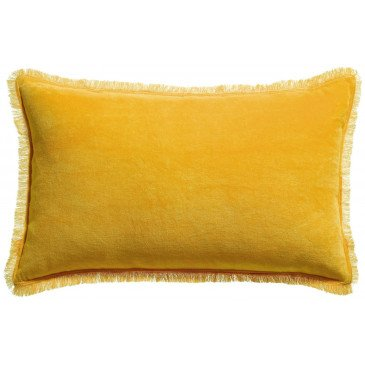 Housse de Coussin Uni Fara Curry 50 | www.cosy-home-design.fr