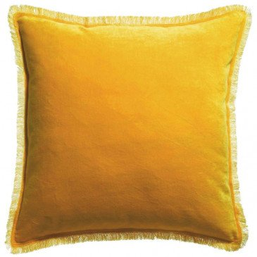 Housse de Coussin Uni Fara Curry 45 | www.cosy-home-design.fr
