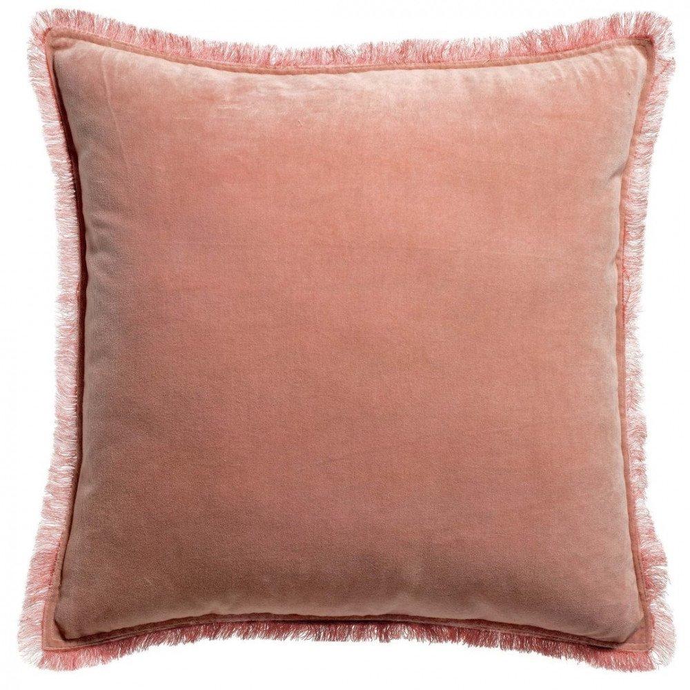Housse de Coussin Uni Fara Pink 45 | www.cosy-home-design.fr