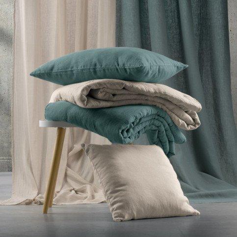 Housse de Coussin Uni Zeff Blanc 45 | www.cosy-home-design.fr