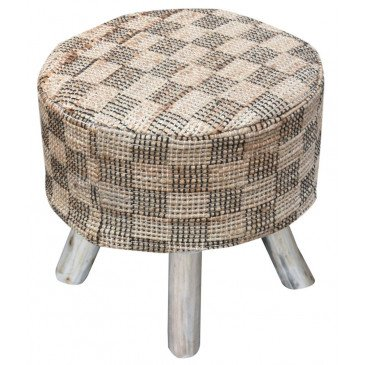 Housse De Tabouret Diori Naturel | www.cosy-home-design.fr