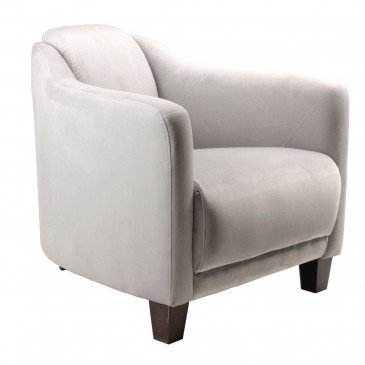 Fauteuil gris velours Romeo  | www.cosy-home-design.fr