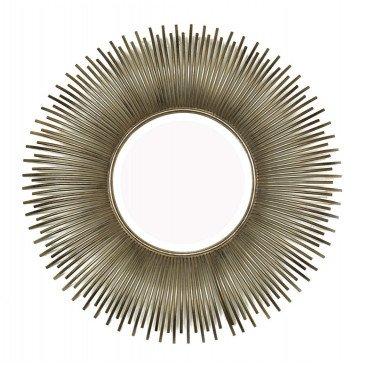 Miroir Soleil Argent Effet Bombé | www.cosy-home-design.fr