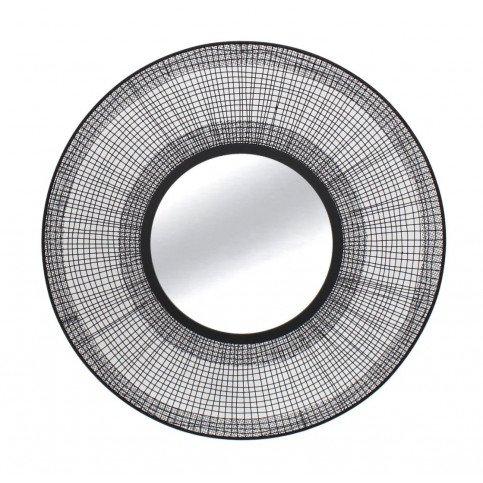 Miroir Métal Fin Filaire Noir | www.cosy-home-design.fr