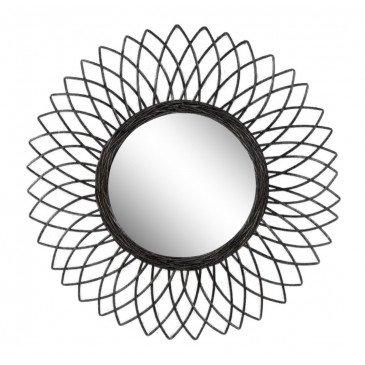 Miroir Luna Rotin Noir | www.cosy-home-design.fr