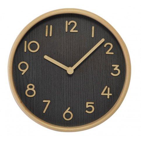 Horloge Bois Clair Fond Foncé | www.cosy-home-design.fr