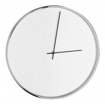 Horloge Argent Fond Miroir | www.cosy-home-design.fr