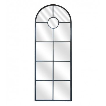 Miroir Fenêtre Métal Foncé | www.cosy-home-design.fr