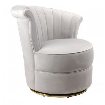 Fauteuils Velours Gris Wave | www.cosy-home-design.fr