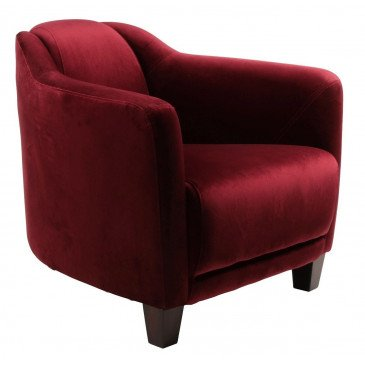Fauteuil rouge bordeaux velours Romeo  | www.cosy-home-design.fr