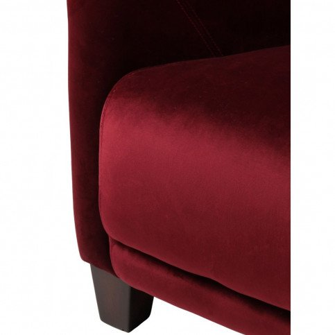 Fauteuil rouge bordeaux velours Romeo  | www.cosy-home-design.fr