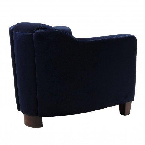 Fauteuil bleu velours Romeo  | www.cosy-home-design.fr