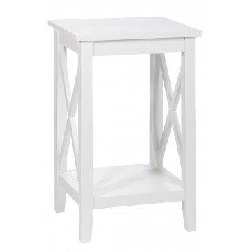 Table Gigogne Carrée Bois Blanc et Verre | www.cosy-home-design.fr