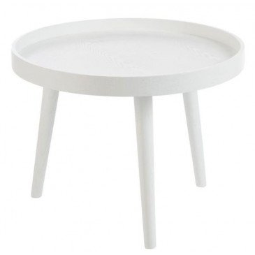 Table Gigogne Bord Rond Bois Blanc | www.cosy-home-design.fr