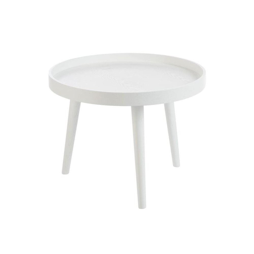 Table Basse Ronde En Bois Blanc Cosy Home Design