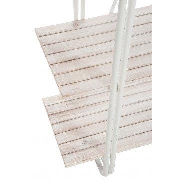 Etagère Debout 5 Planches Métal Blanc Bois Blanc Wash | www.cosy-home-design.fr