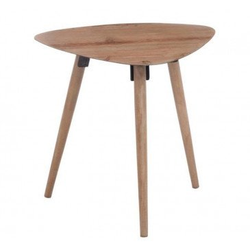 Table Gigogne Triangle Arrondi Métal Placage Naturel Medium | www.cosy-home-design.fr