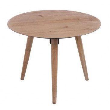 Table Gigogne Ronde Métal Placage Naturel Large | www.cosy-home-design.fr
