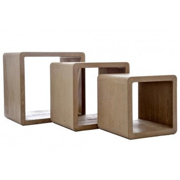 Set de 3 Tables Gigogne Rectangulaires Bois Naturel | www.cosy-home-design.fr