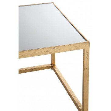 Table Gigogne Carré Métal/Verre Or | www.cosy-home-design.fr