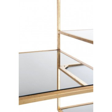 Etagère 5 Planches Métal/Verre Or | www.cosy-home-design.fr