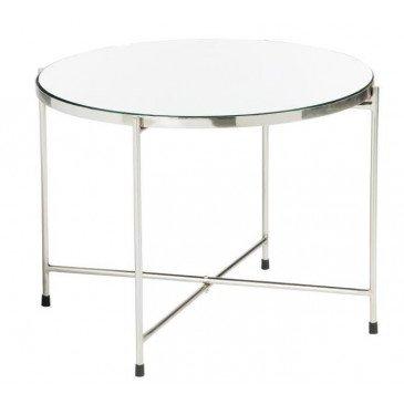 Table Gigogne Miroir Métal Argent Large | www.cosy-home-design.fr