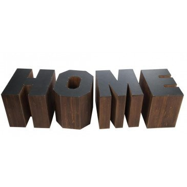 Set De 4 Tables Gigogne Home Bois Marron et Noir | www.cosy-home-design.fr