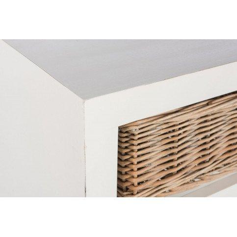 Dressoir Ouvert et 3 Paniers Bois Blanc | www.cosy-home-design.fr