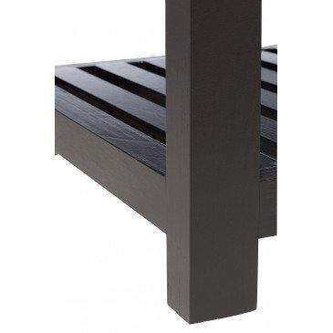 Console 3 Croix Bois/Verre Noir | www.cosy-home-design.fr
