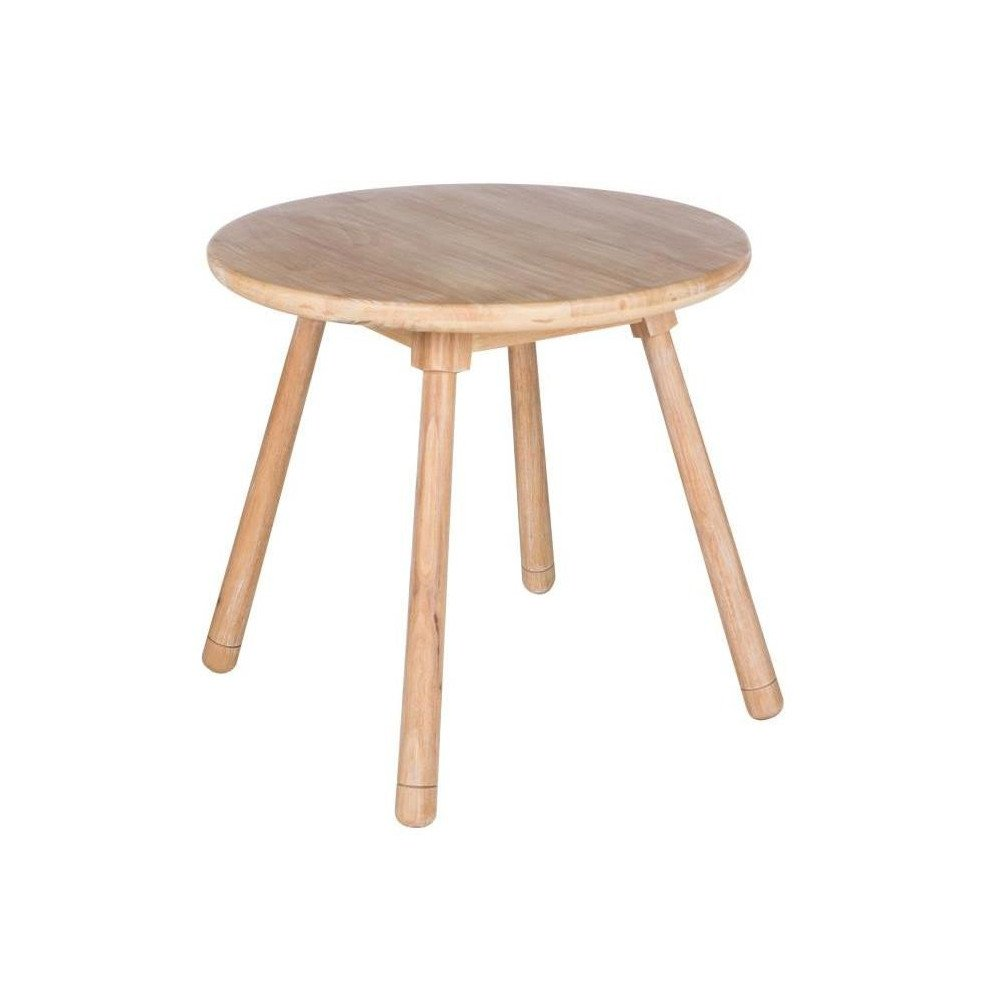 Table D'enfant Ronde Bois Naturel | www.cosy-home-design.fr