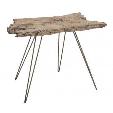 Table Irréguliere 4 Pieds Bois/Métal Grey Wash Large | www.cosy-home-design.fr