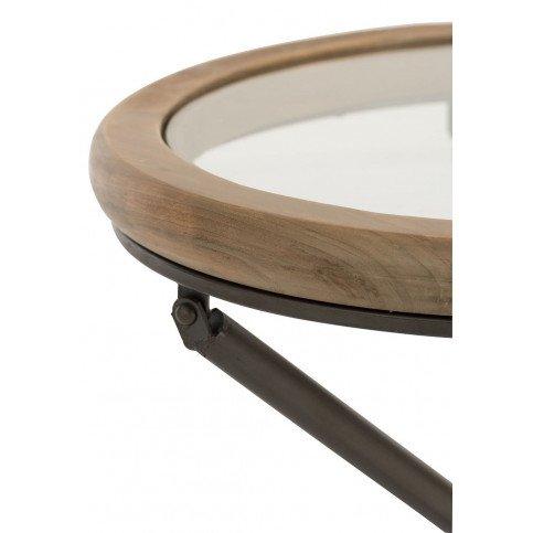 Table Ronde Bois/Verre Marron Petit | www.cosy-home-design.fr