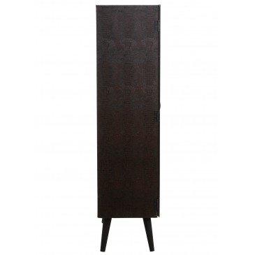 Meuble Bar 1 Tiroir Bois/Verre Noir | www.cosy-home-design.fr