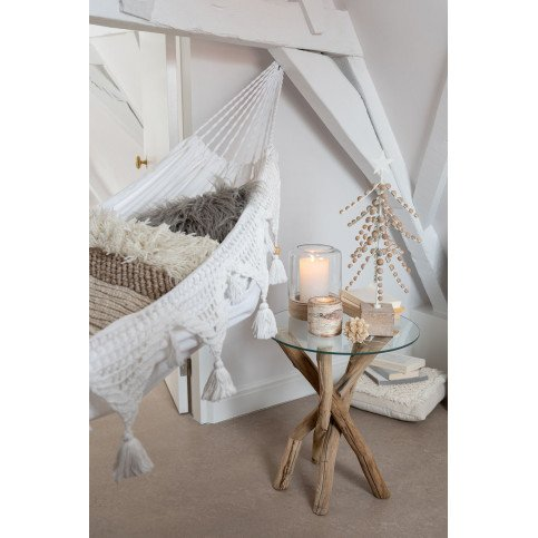 Table D'appoint Branches Bois/Verre Naturel | www.cosy-home-design.fr