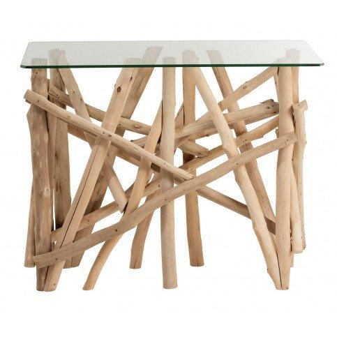 Console Rectangulaire Branches Bois/Verre Naturel | www.cosy-home-design.fr