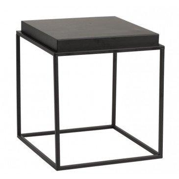 Table Gigogne Carrée Métal Noir Petit | www.cosy-home-design.fr
