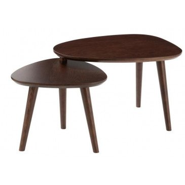 Set De 2 Tables Gigogne Vintage Bois Marron | www.cosy-home-design.fr