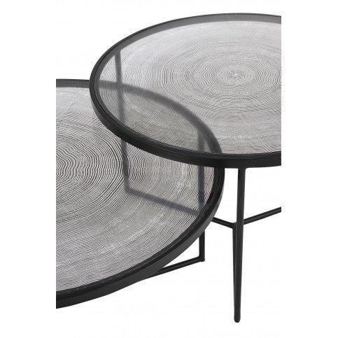 Set De 3 Tables Gigogne Cercles Métal/Verre Noir | www.cosy-home-design.fr