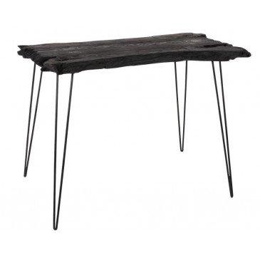 Table D'appoint Irréguliere 4 Pieds Bois Epicea Noir | www.cosy-home-design.fr
