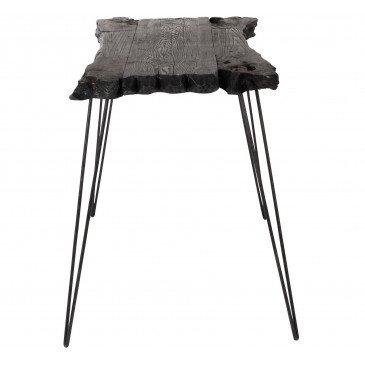 Table D'appoint Irréguliere 4 Pieds Bois Epicea Noir   www.cosy-home-design.fr