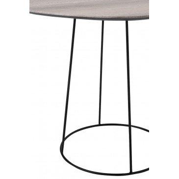 Table Gigogne Ovale MDF/Métal Naturel/Noir | www.cosy-home-design.fr