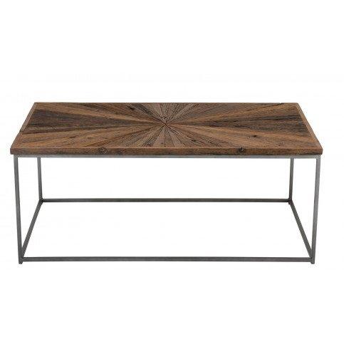 Table Basse Shanil Bois/Métal Naturel/Gris | www.cosy-home-design.fr