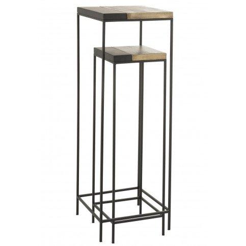 Set De 2 Tables Gigogne Hautes Métal Or/Noir | www.cosy-home-design.fr
