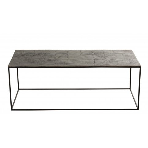 Table Basse Rectangulaire Oxidize Aluminium/Métal Antique Noir/Vert   www.cosy-home-design.fr