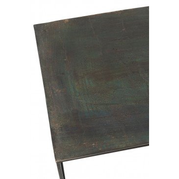 Table Basse Rectangulaire Oxidize Aluminium/Métal Antique Noir/Vert | www.cosy-home-design.fr