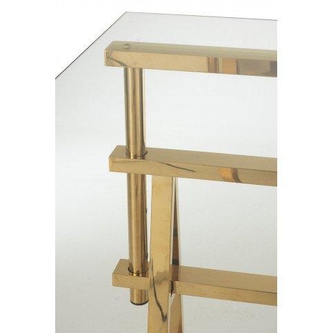 Bureau Ajustable Acier Inoxydable/Verre Or/Transparent | www.cosy-home-design.fr