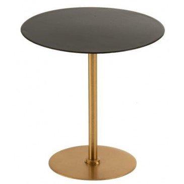 Table Gigogne Métal Or/Laque Noir Petit | www.cosy-home-design.fr